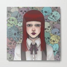 Colorful Skulls Metal Print