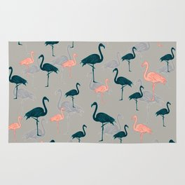 Tropical Gathering Flamingo Design Rug