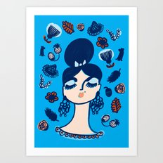 Diamonds and Pearls in Your Hair Art Print