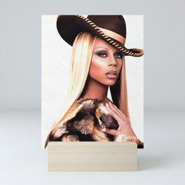 Cowboy Rupaul Mini Art Print