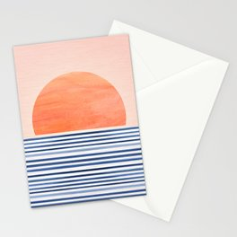 Summer Sunrise - Minimal Abstract Landscape Stationery Cards