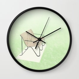 Public Love Seat Wall Clock