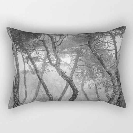 """Forest dance"" BW Rectangular Pillow"