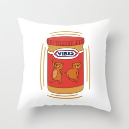 Peanut Butter Vibes - Crunchy Throw Pillow