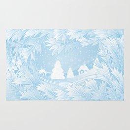 Winter background Rug