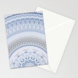 Elegant Blue Silver China Inspired Mandala Stationery Cards