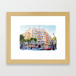 La Pedrera Barcelona Framed Art Print