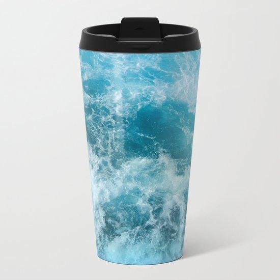 Wave Motion Metal Travel Mug