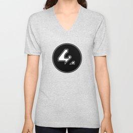 42 - Black Unisex V-Neck