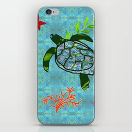 zakiaz turtle iPhone Skin