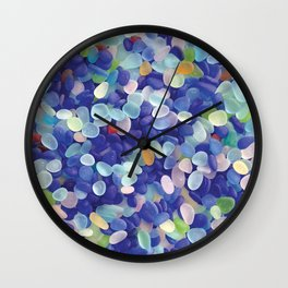 Sea Glass Extravaganza Wall Clock