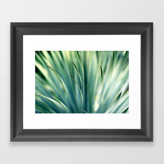 Spiked Leaves on a Slant Framed Art Print