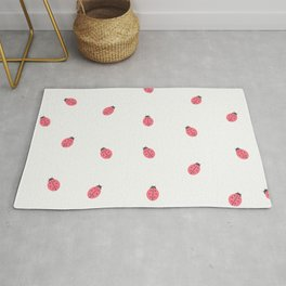 Kawaii Cute Lady Bug Pattern Rug