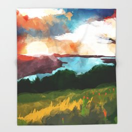 Skaneateles Lake :: Landscape Throw Blanket
