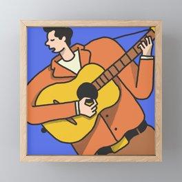 Mr. Tambourine Man Framed Mini Art Print