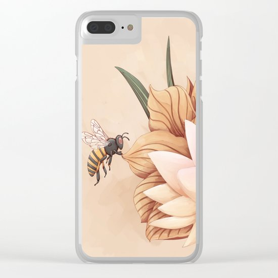 Full bloom | Busy bee Clear iPhone Case