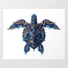 Sea Turtle (Color Version) Art Print