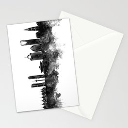 Riyadh skyline in black watercolour  Stationery Cards