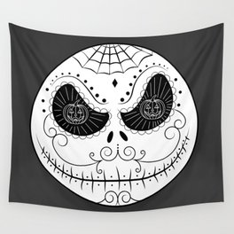 Jack's Skull Sugar (Vector Mexican Skull) Wall Tapestry