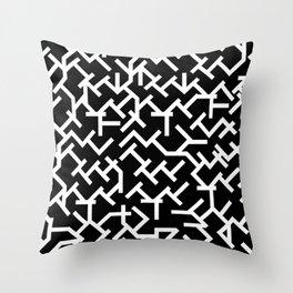 Geometric Labyrinth Throw Pillow