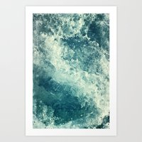 water Art Prints featuring Water I by Dr. Lukas Brezak