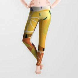 Summer citrus #2 Fruit Picnic - aesthetic minimalistic illustration  Leggings