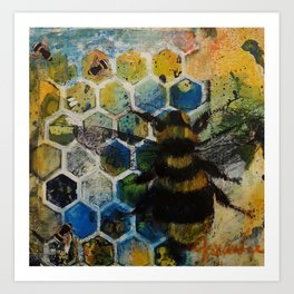 Bee Kind to One Another Art Print