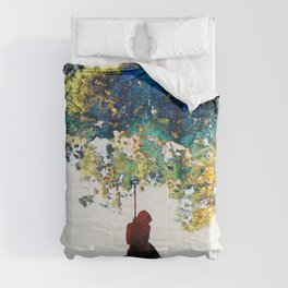 Colorful Landscape Art - The Dreaming Tree - By Sharon Cummings Comforters