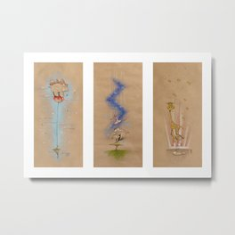 Air of Imagination Nursery Collection - VI Metal Print