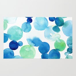 Turquoise bubbles Rug