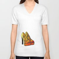 shoe V-neck T-shirts featuring Shoe 3 by AstridJN