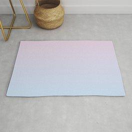 Pastel Ombre Millennial Pink Blue Gradient Pattern Rug
