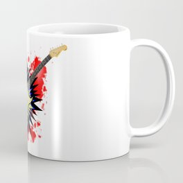 Solid Guitar Cartoon Explosion Coffee Mug