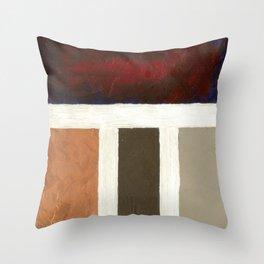 Textured Cubism -Modern Art - Office Art - Hospitality Art Throw Pillow