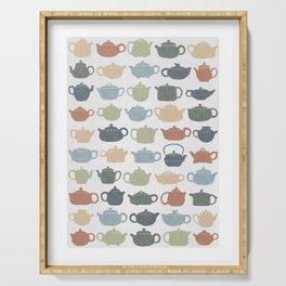 Lots of Tea Pots Serving Tray