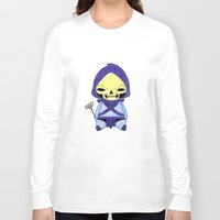 conan Long Sleeve T-shirts featuring A Boy - Skeletor by Christophe Chiozzi