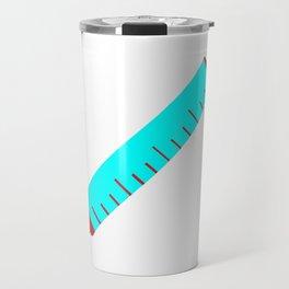 Simple Cartoon Style Hypodermic Needle Travel Mug