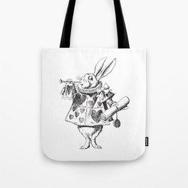 White Rabbit - Alice in Wonderland Tote Bag