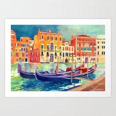 sunshine in Venezia Art Print