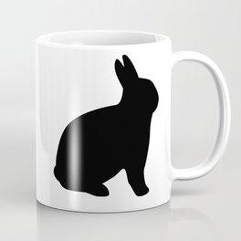 Black Rabbit Silhouette | Black Bunny Coffee Mug