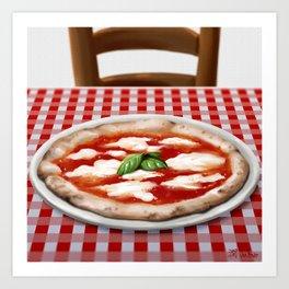 Pizza margherita Art Print