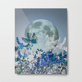 Super Moon v2 - Blue #buyart Metal Print