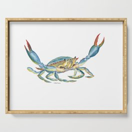 Colorful Blue Crab Serving Tray