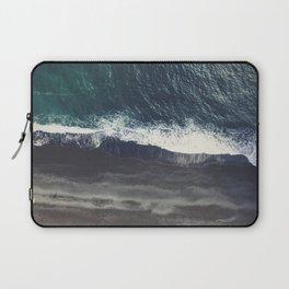 Arctic Ocean - Volcano black sand beach and foam Laptop Sleeve