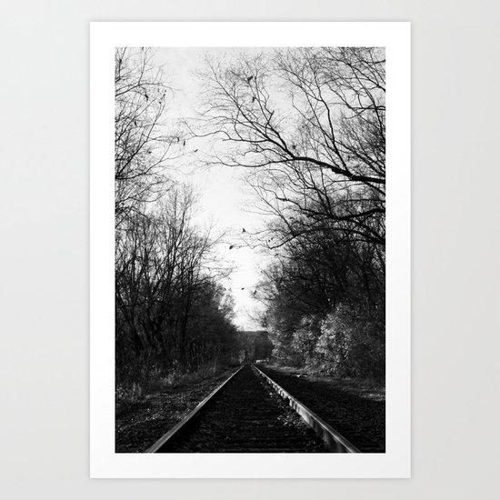 The Rail Art Print
