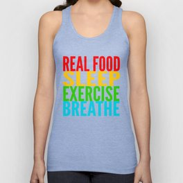 Eat, Sleep, Exercise, Breathe Unisex Tank Top