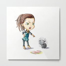 Bad Kitty Metal Print