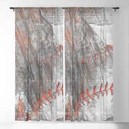 Baseball vs 9 Sheer Curtain
