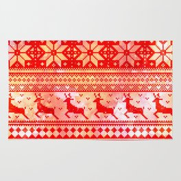 Reindeer Sweater Color Option Rug