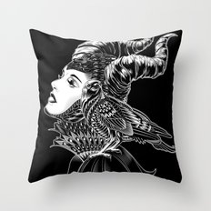 Maleficent Tribute Throw Pillow